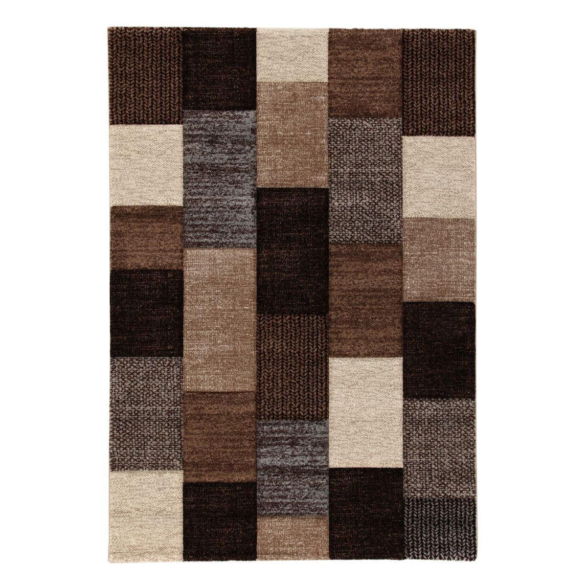 Tappeto textures beige marrone 160 x 230 cm prezzi e for Copriwater leroy merlin
