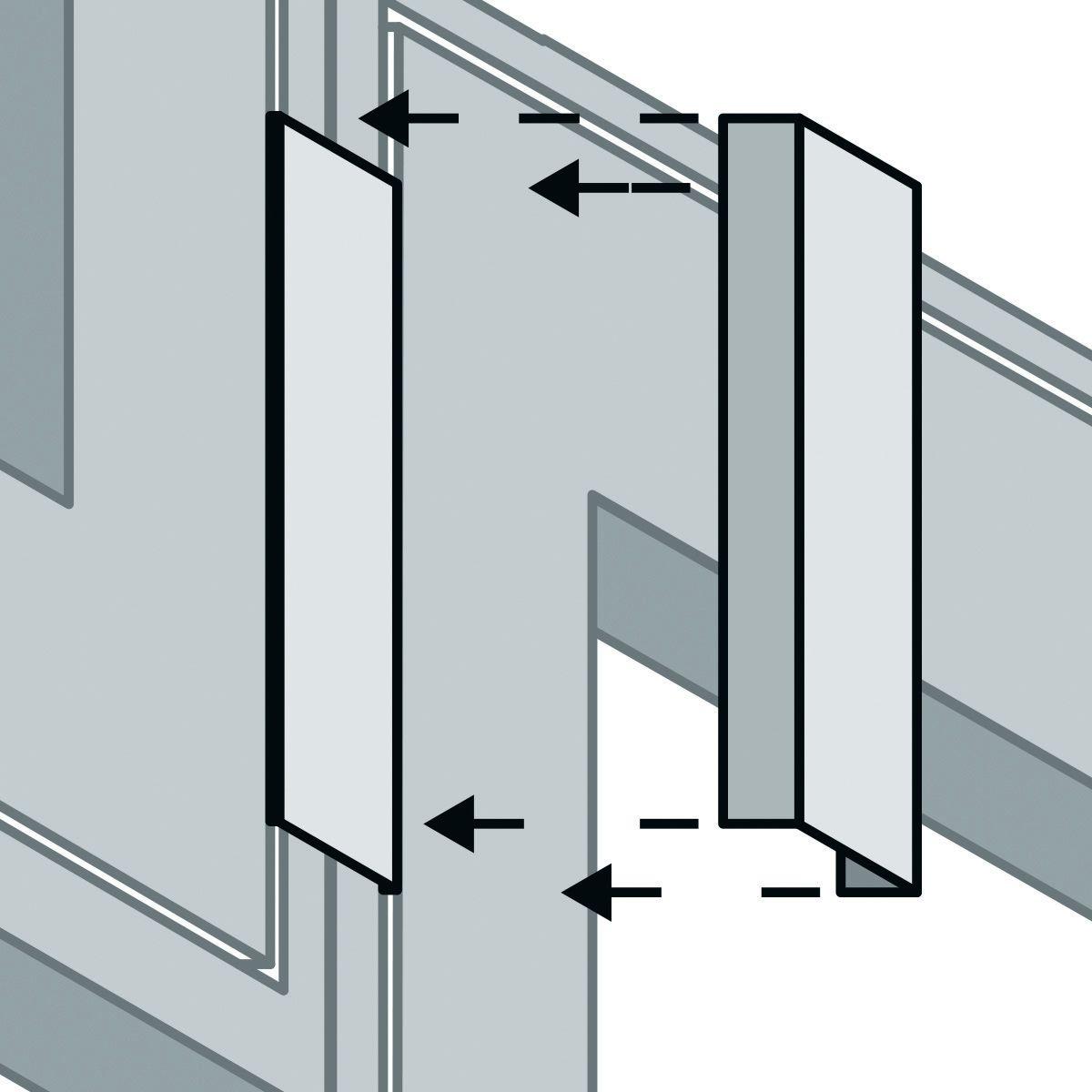Supporti per quadri a parete amazing binari da soffitto - Supporti per specchi a parete ...