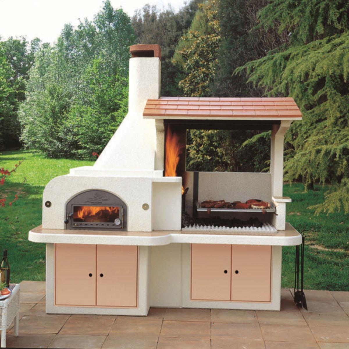 Idee giardino barbecue forno - Barbecue in muratura con forno ...