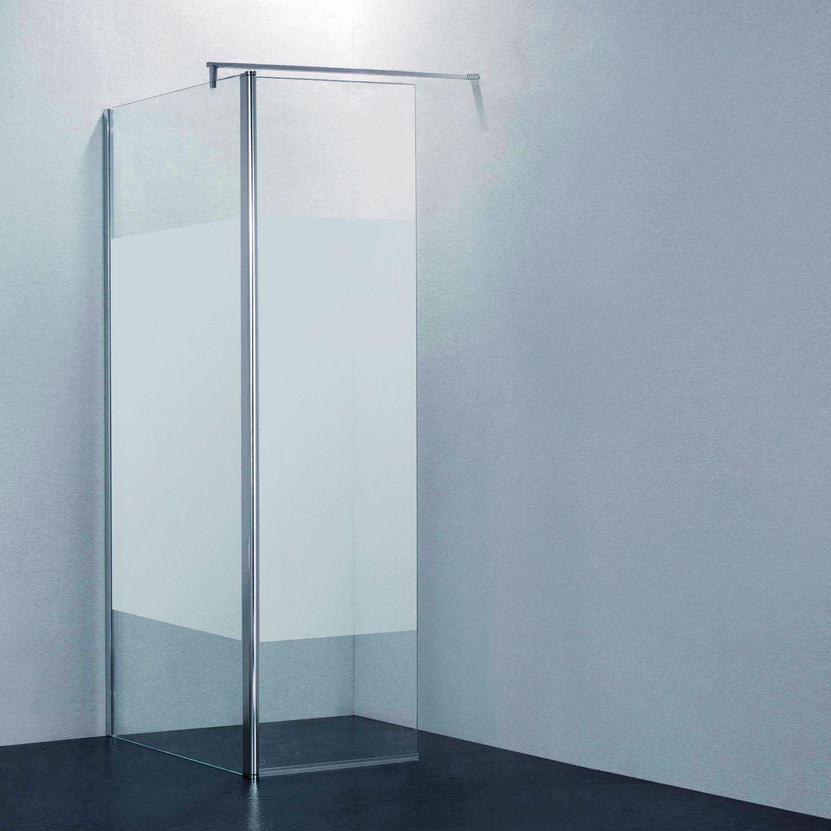 Doccia walk in open 90 30 h 195 cm cristallo 6 mm for Erba sintetica prezzi leroy merlin