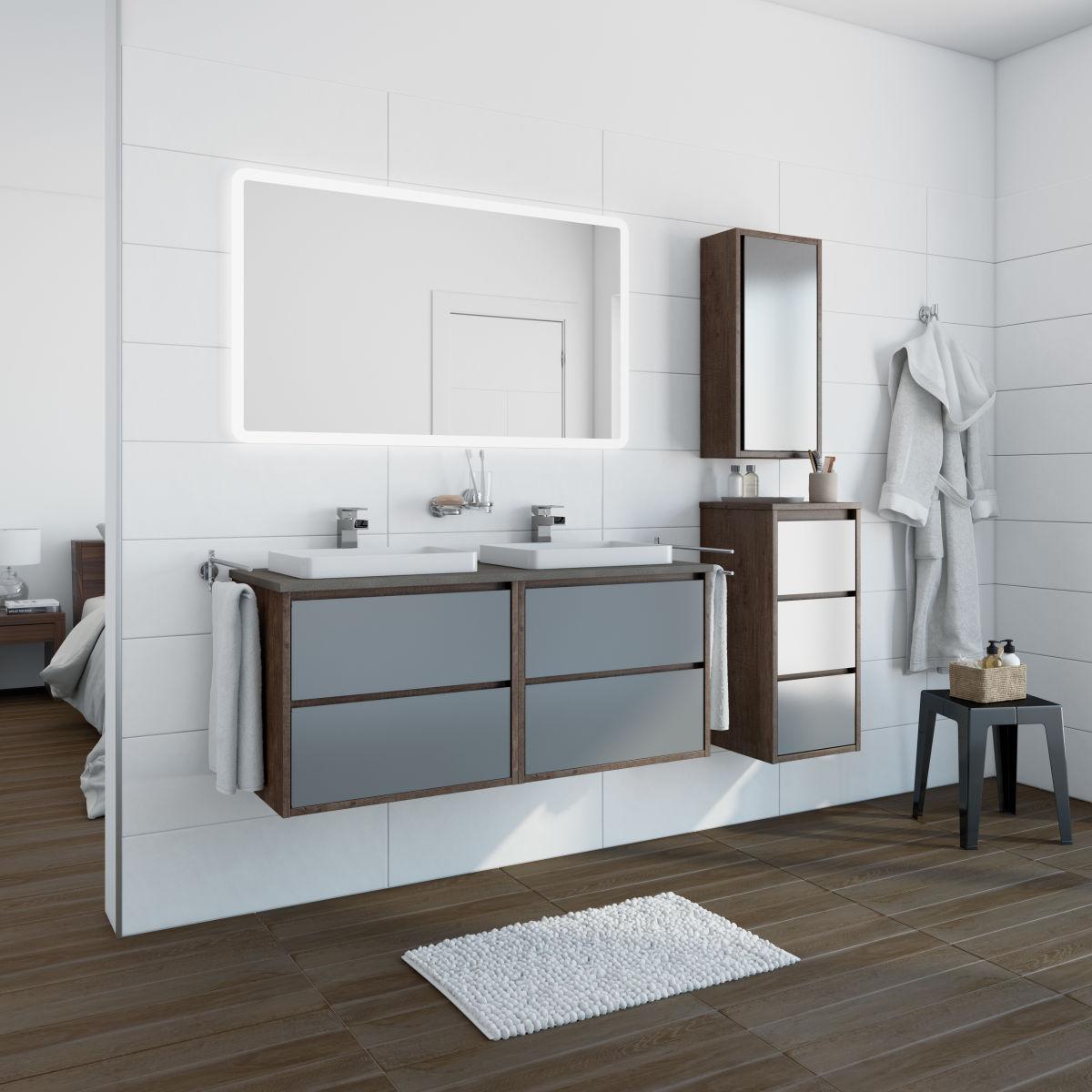mobili bagno due lavelli ~ Comarg.com = Lussuoso Design del Bagno ...