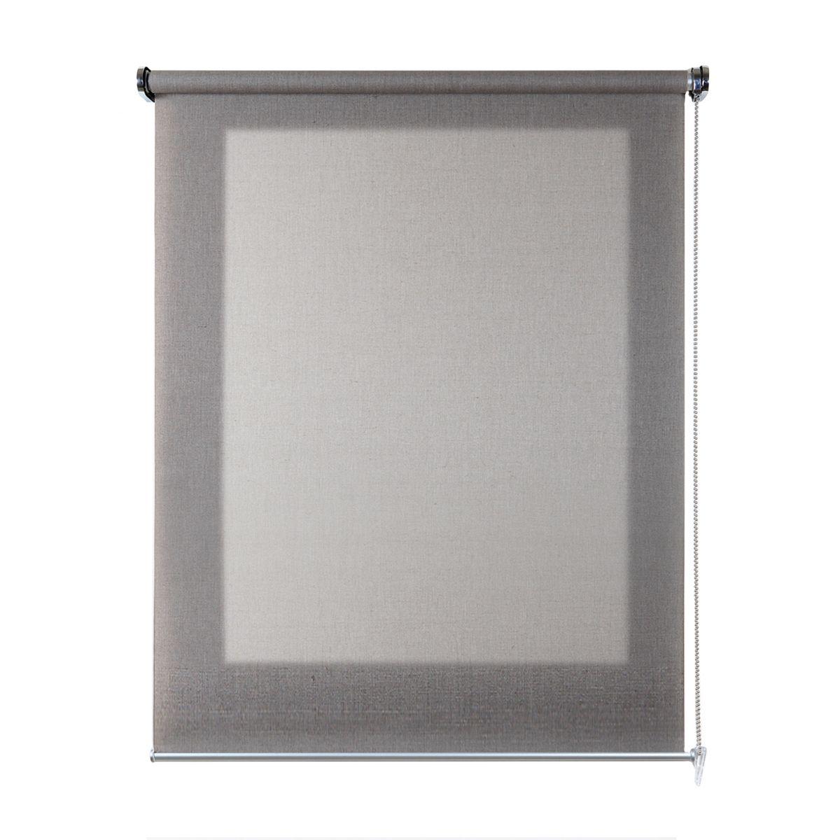 Tenda a rullo scandi marrone 80 x 180 cm prezzi e offerte for Tralicci leroy merlin
