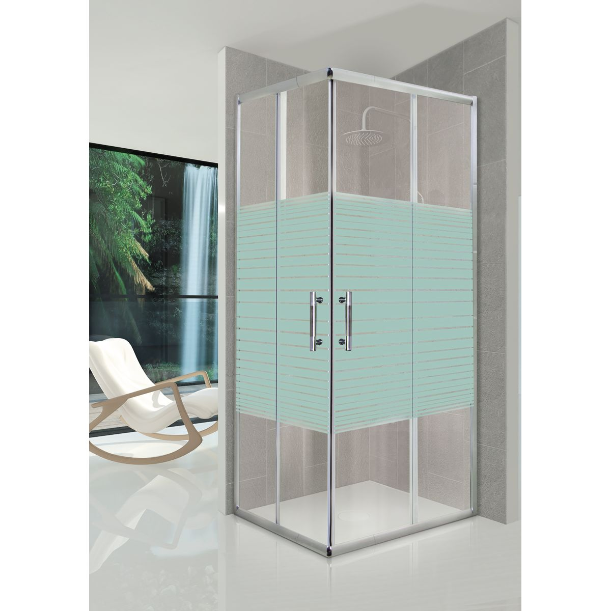 Tende a rullo per doccia latest top tenda doccia leroy for Offerte cabine doccia leroy merlin