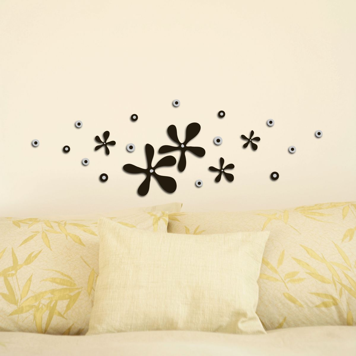 Fabulous d foam s squeeze flowers with stickers murali for Stickers murali cucina