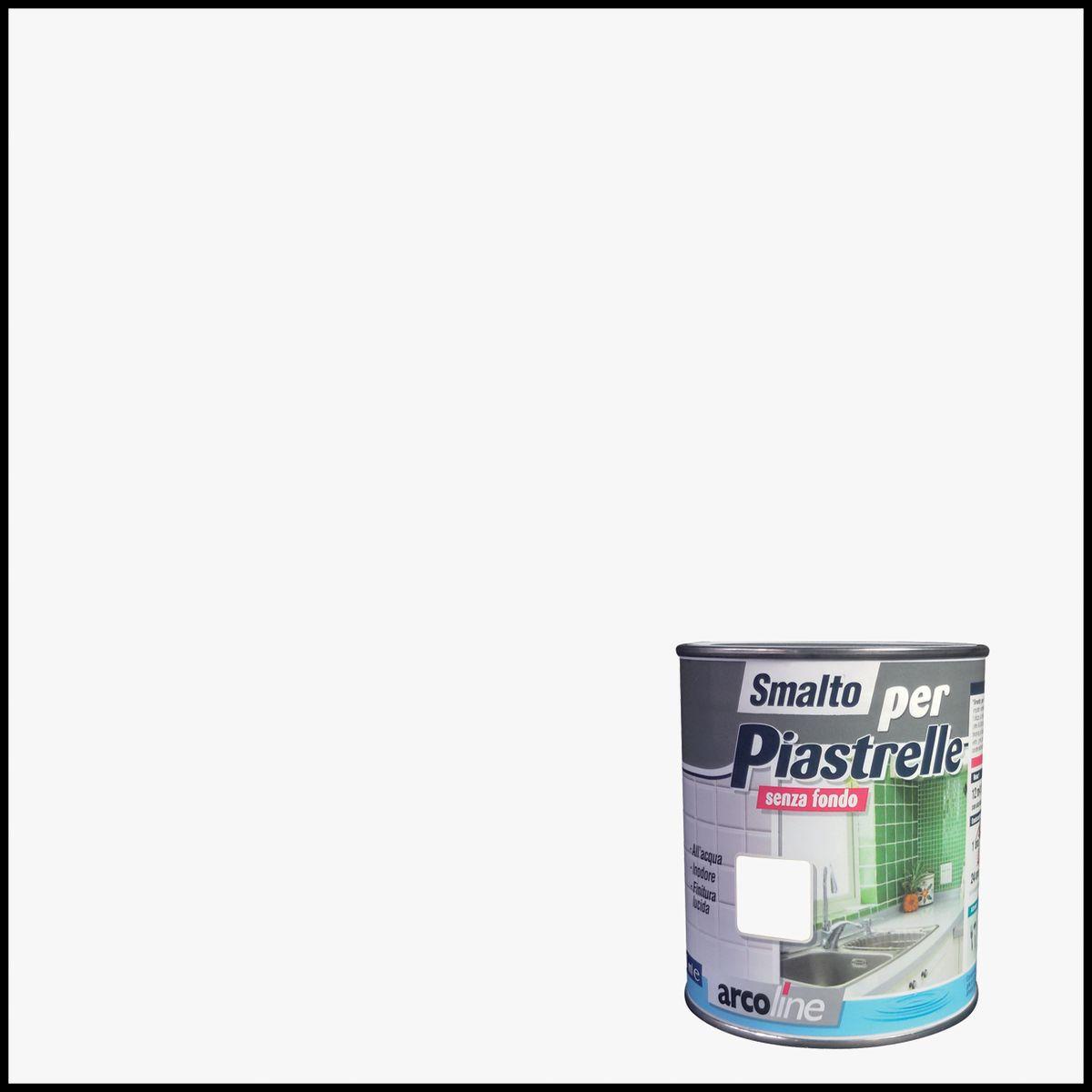 Vernici Smalto Per Piastrelle Arcoline 613 Bianco Brillante 0,5 L 35613151