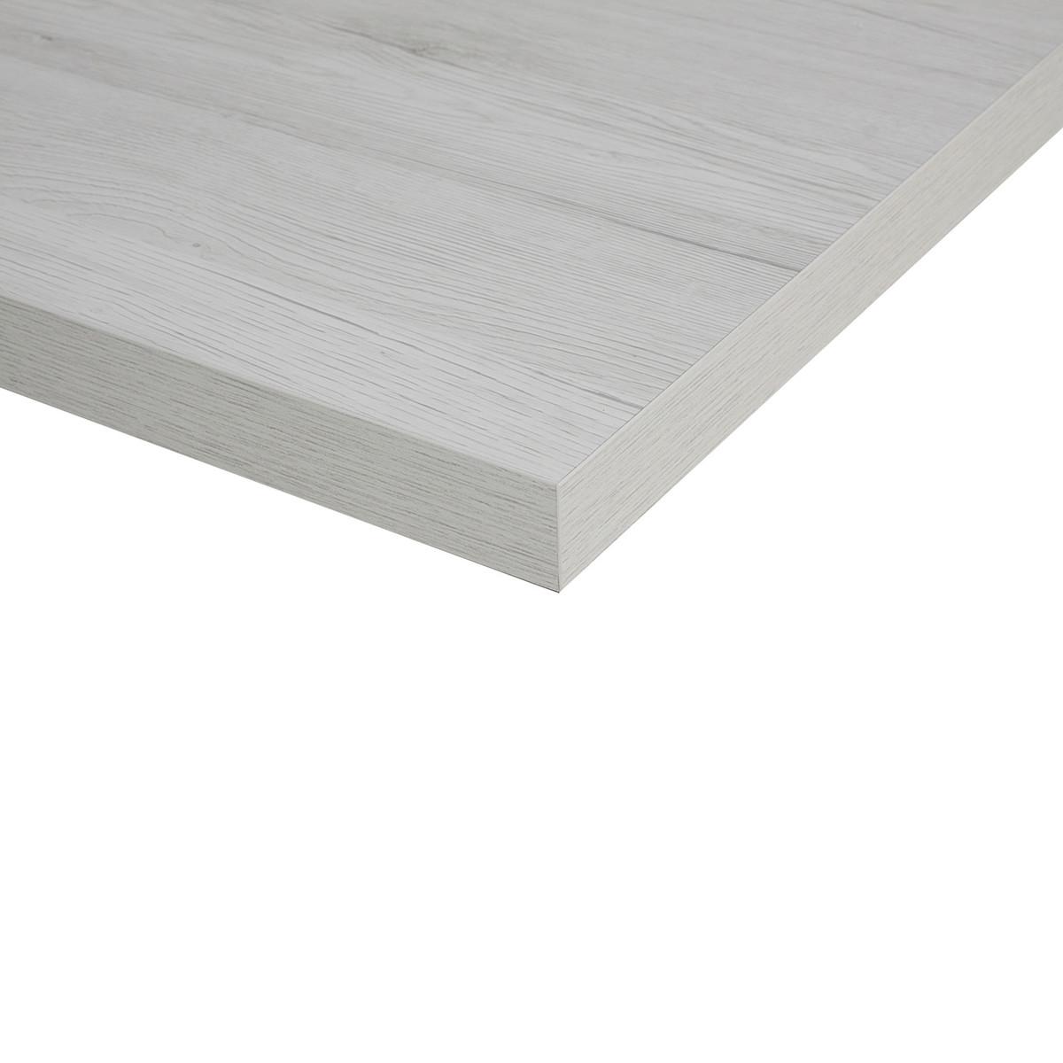 Piano cucina su misura laminato bianco rovere 6 cm prezzi for Piani tavolo leroy merlin