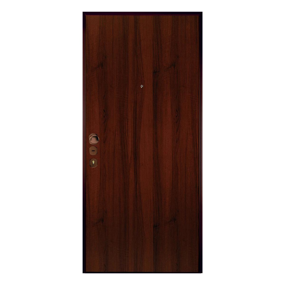 Porta blindata double key noce l 80 x h 210 cm sx prezzi for Erba sintetica prezzi leroy merlin