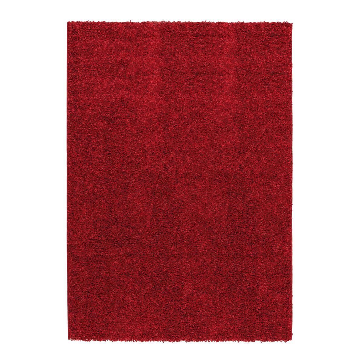 Tappeto curly rosso 120 x 170 cm prezzi e offerte online - Tappeto bagno rosso ...