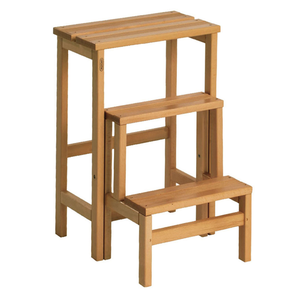 Sgabello in legno 3 gradini valdomo su e gi prezzi e for Gradini in legno prezzi