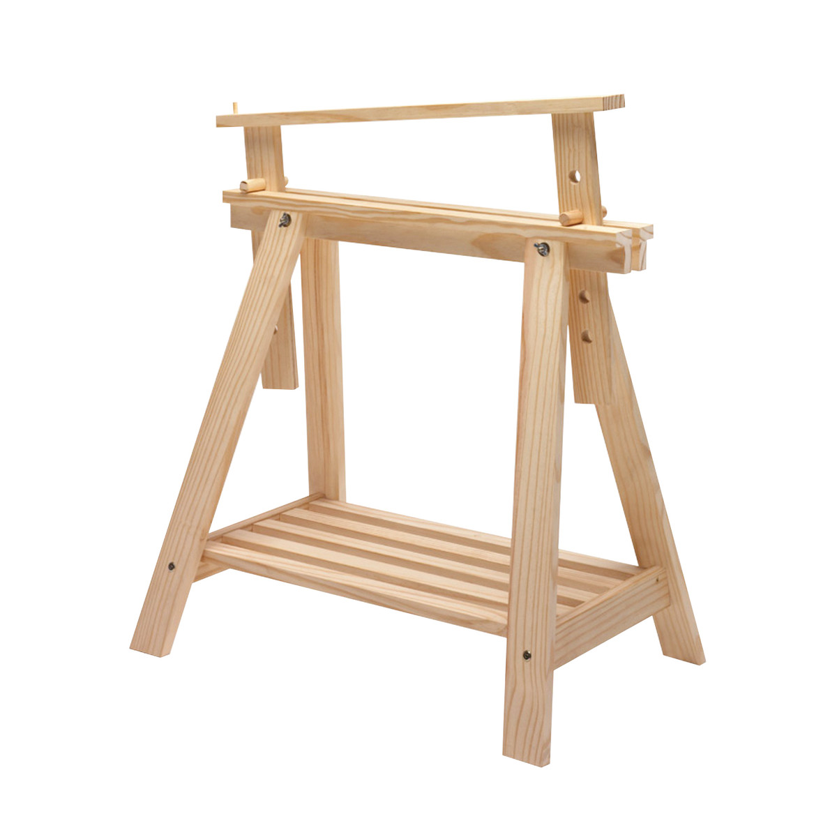 Cavalletto pino archi tec h 70 x p 70 x l 45 cm grezzo for Gambe tavolo legno leroy merlin