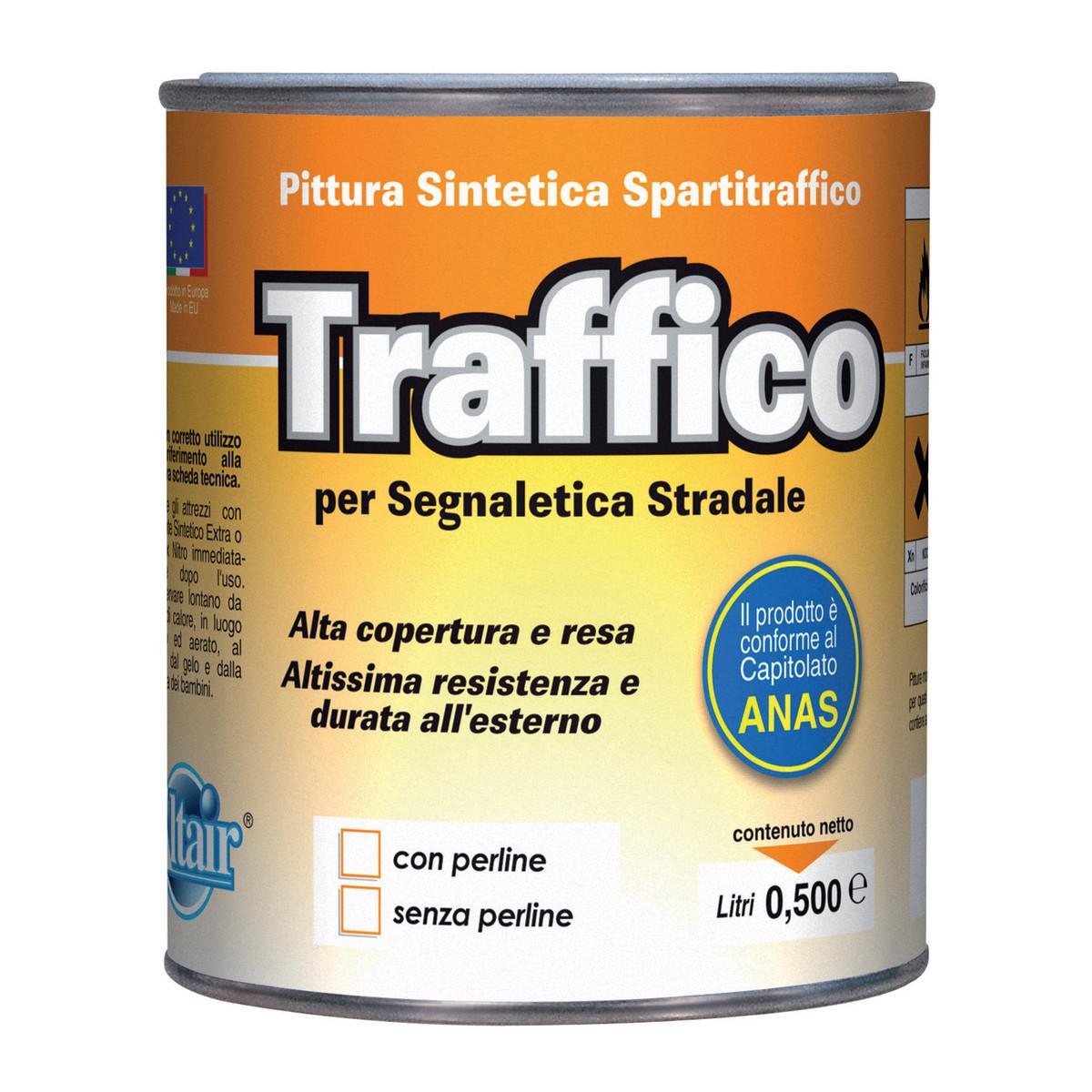 Vernice spartitraffico giallo ral 1003 0 5 l prezzi e for Vernice per plastica leroy merlin
