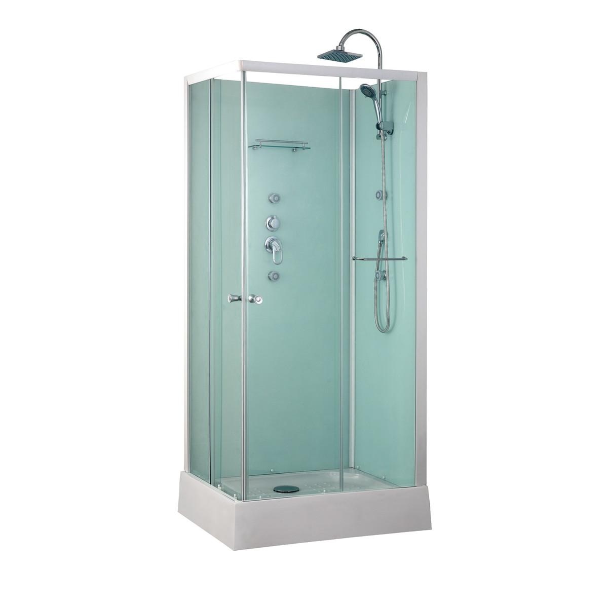 Cabina doccia completa 75 x 140 for Box doccia tre lati leroy merlin