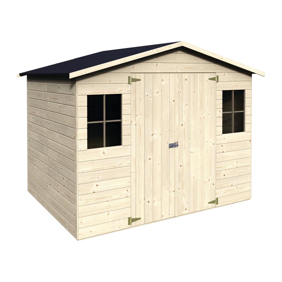 Casetta in legno bouganvillea 265 x 194 cm spessore 12 mm for Leroy merlin gazebo giardino in legno