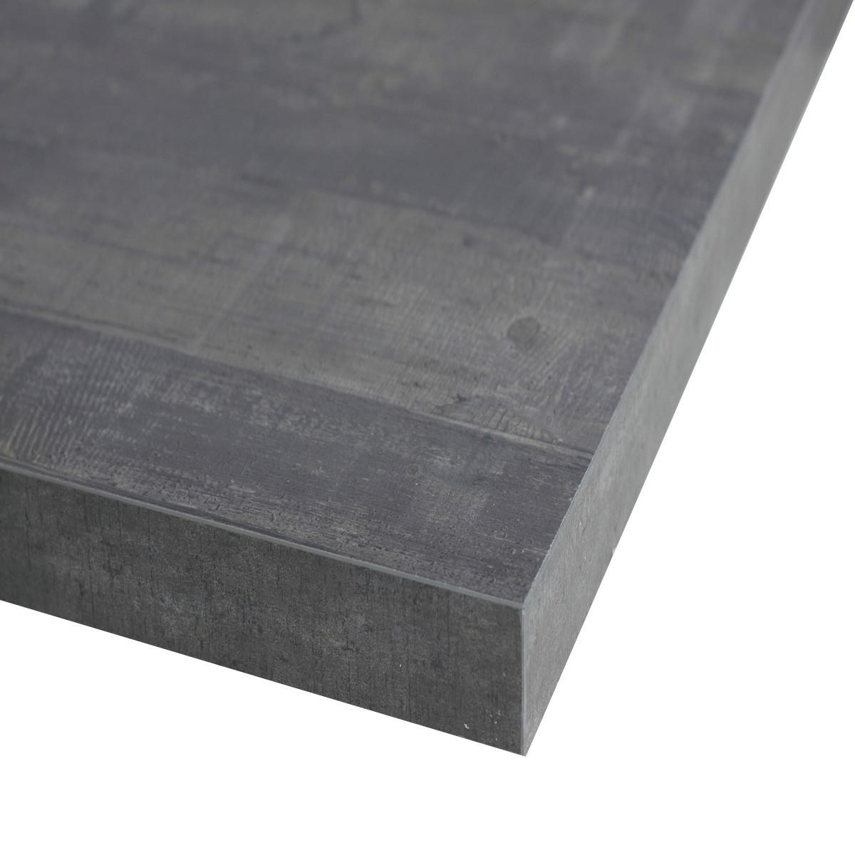 Piano cucina su misura laminato kaos grigio 6 cm prezzi e - Piani tavolo leroy merlin ...