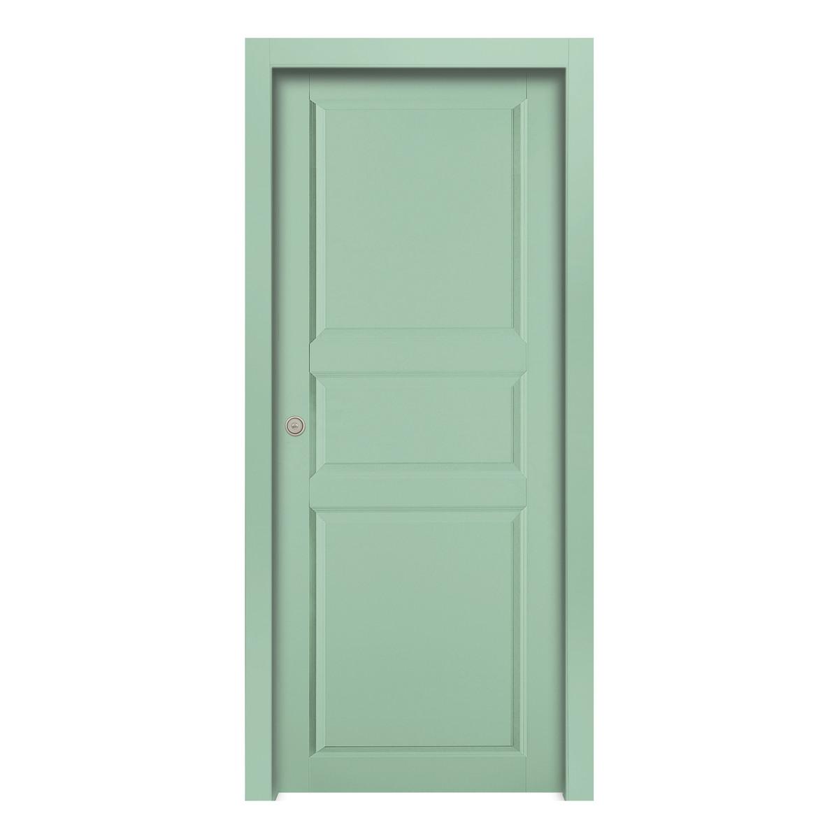 Porta da interno battente new york green verde 60 x h 210 for Erba sintetica prezzi leroy merlin