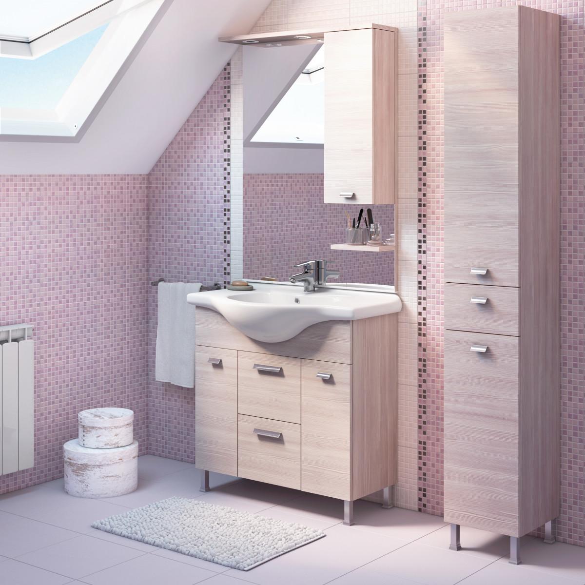 Mobile bagno rimini larice l 85 cm prezzi e offerte online - Leroy merlin rubinetti bagno ...