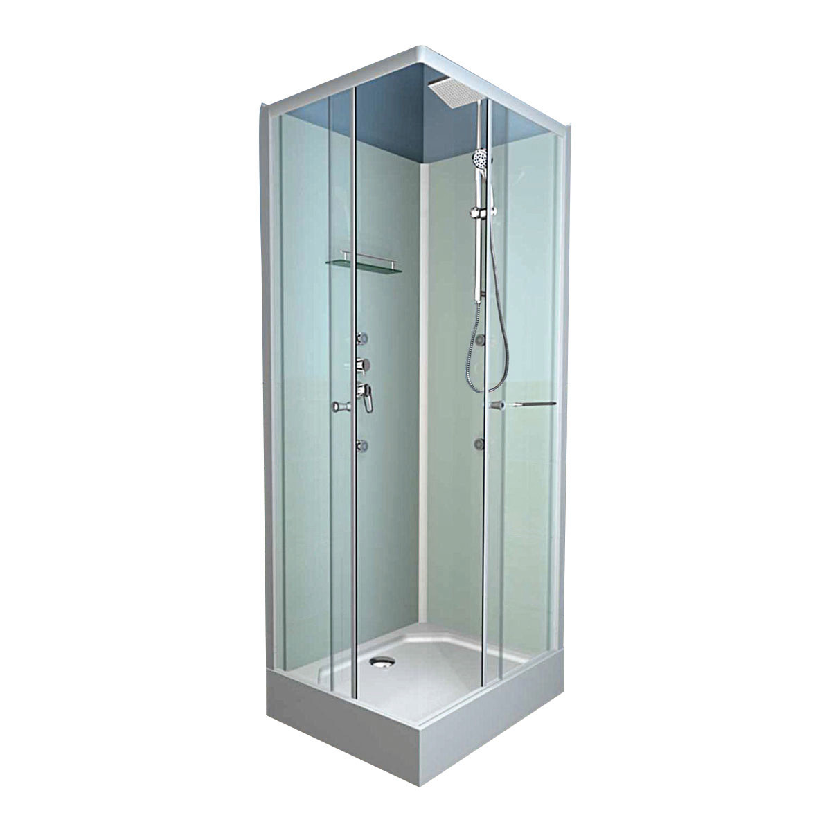Doccia e vasca insieme 70cm for Box doccia tre lati leroy merlin