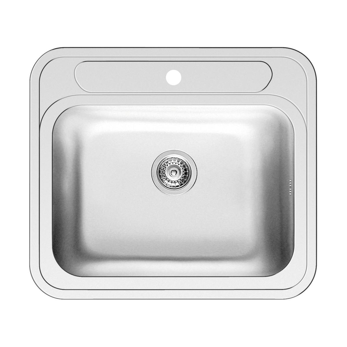 Lavello incasso kubo l 58 x p 51 cm 1 vasca prezzi e - Lavelli da incasso per cucina ...