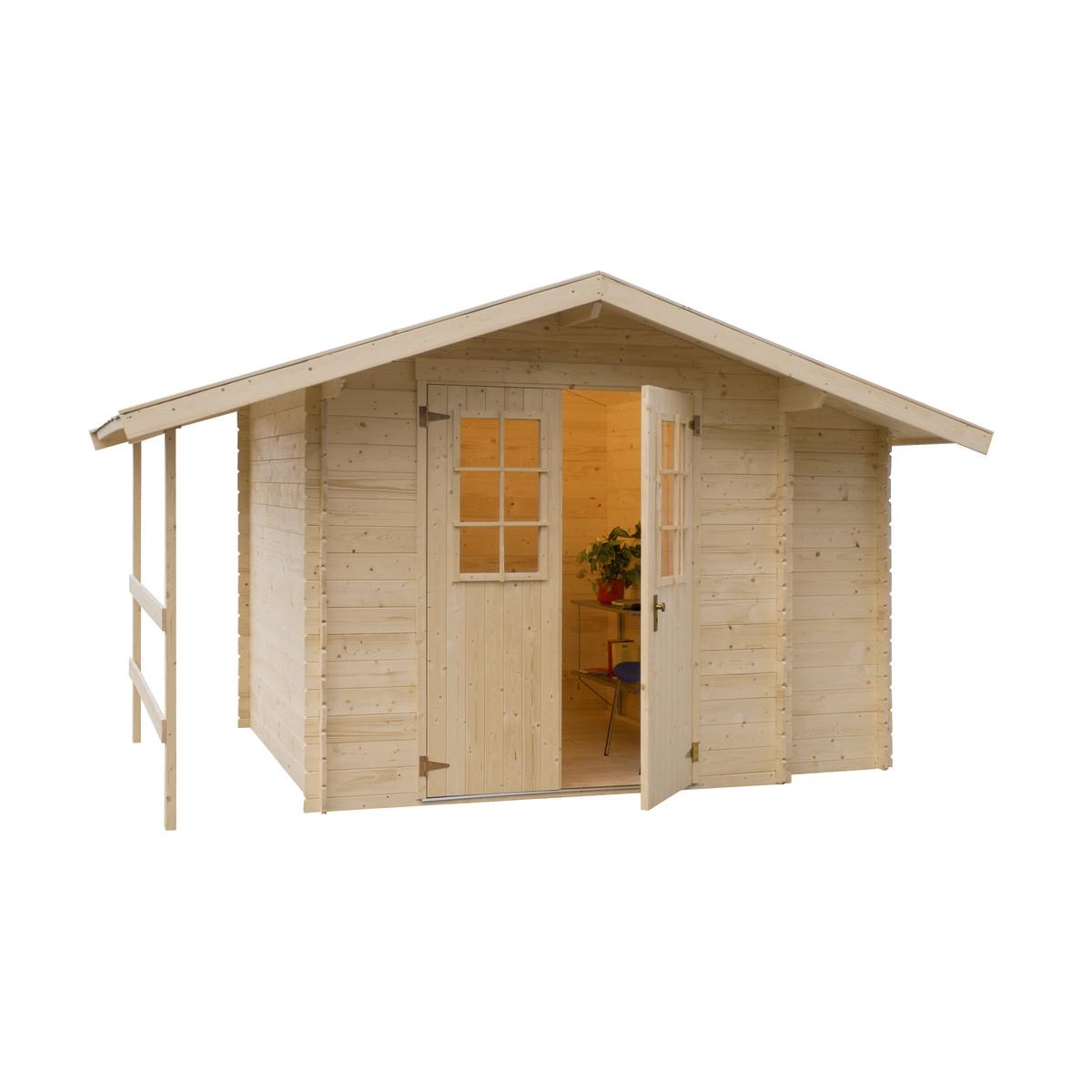 Casetta in legno oslo 362 x 263 cm spessore 19 mm prezzi for Offerte casette in legno