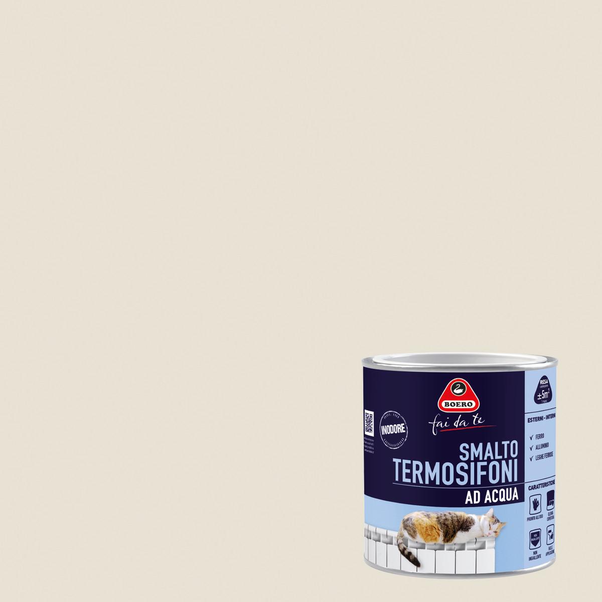 Smalto per termosifoni boero grigio satinato 0 5 l prezzi for Termosifoni leroy merlin