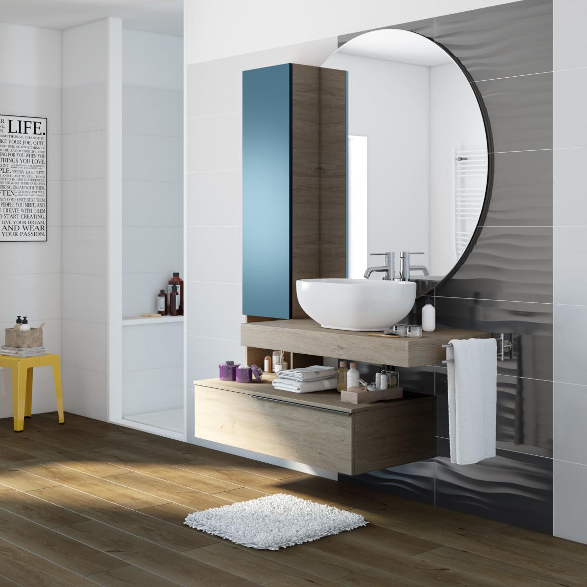 Bagno grigio perla for Maniglie mobili bagno