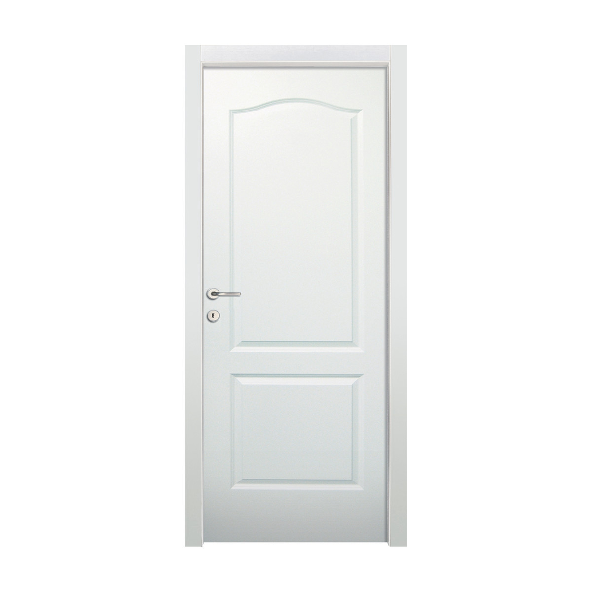 Porta da interno battente ipanema bianco 80 x h 210 cm dx for Porte 63cm leroy merlin