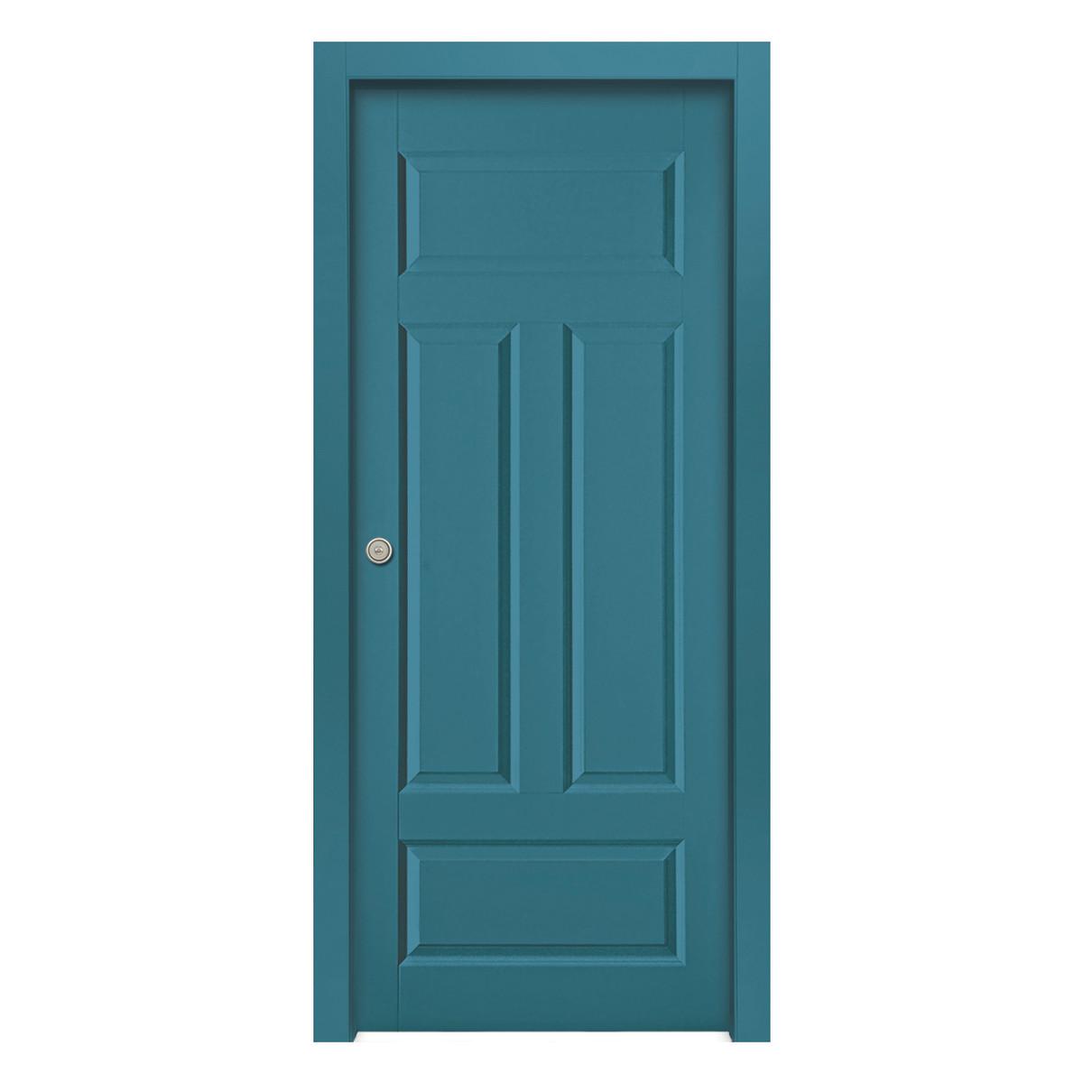 Porta da interno scorrevole coconut groove blue azzurro 60 x h 210 cm reversibile prezzi e - Offerte porte da interno ...