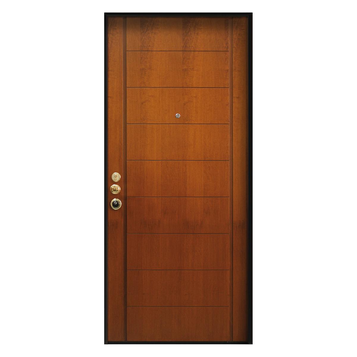 Porta blindata best tanganika medio l 90 x h 210 cm dx - Rivestimento porta blindata leroy merlin ...