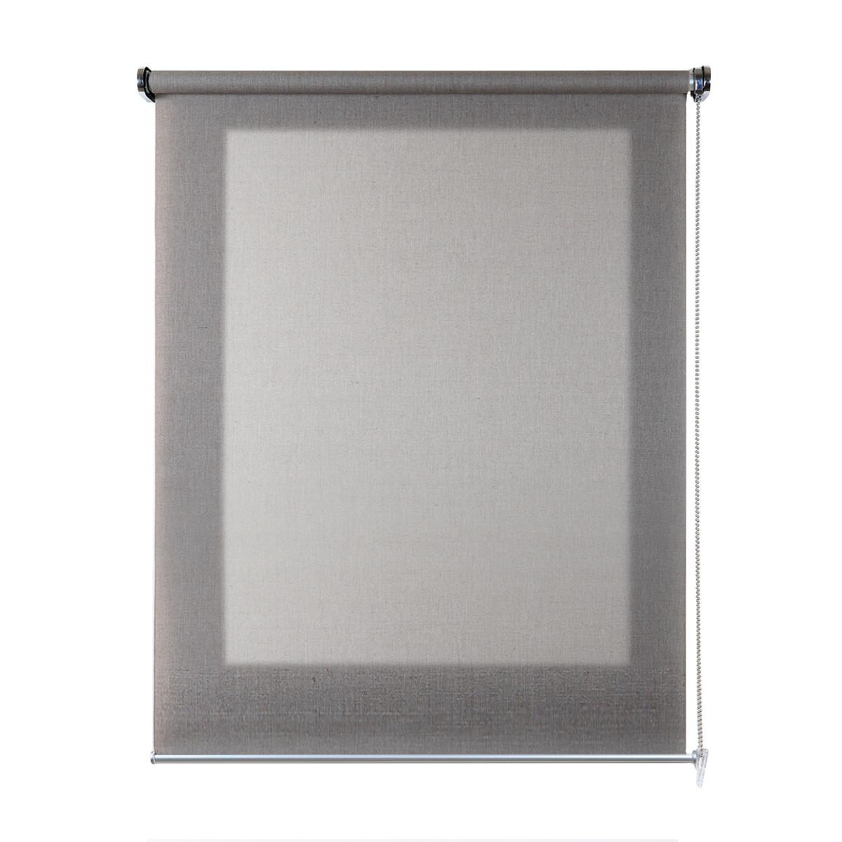 Tenda a rullo scandi marrone 80 x 180 cm prezzi e offerte for Tende a rullo leroy
