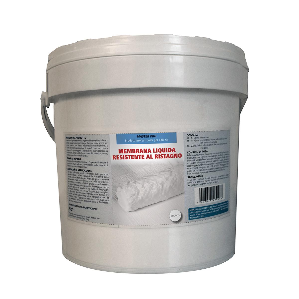 Membrana liquida antiristagno bianca 5 kg prezzi e for Guaina liquida leroy merlin