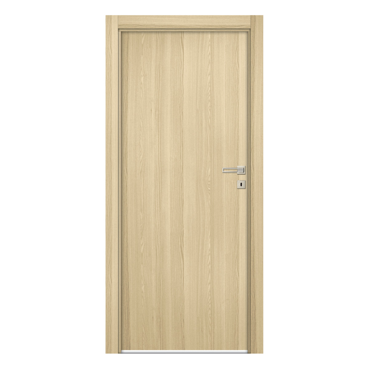Porta da interno battente young rovere sbiancato 80 x h for Porta finestra leroy merlin