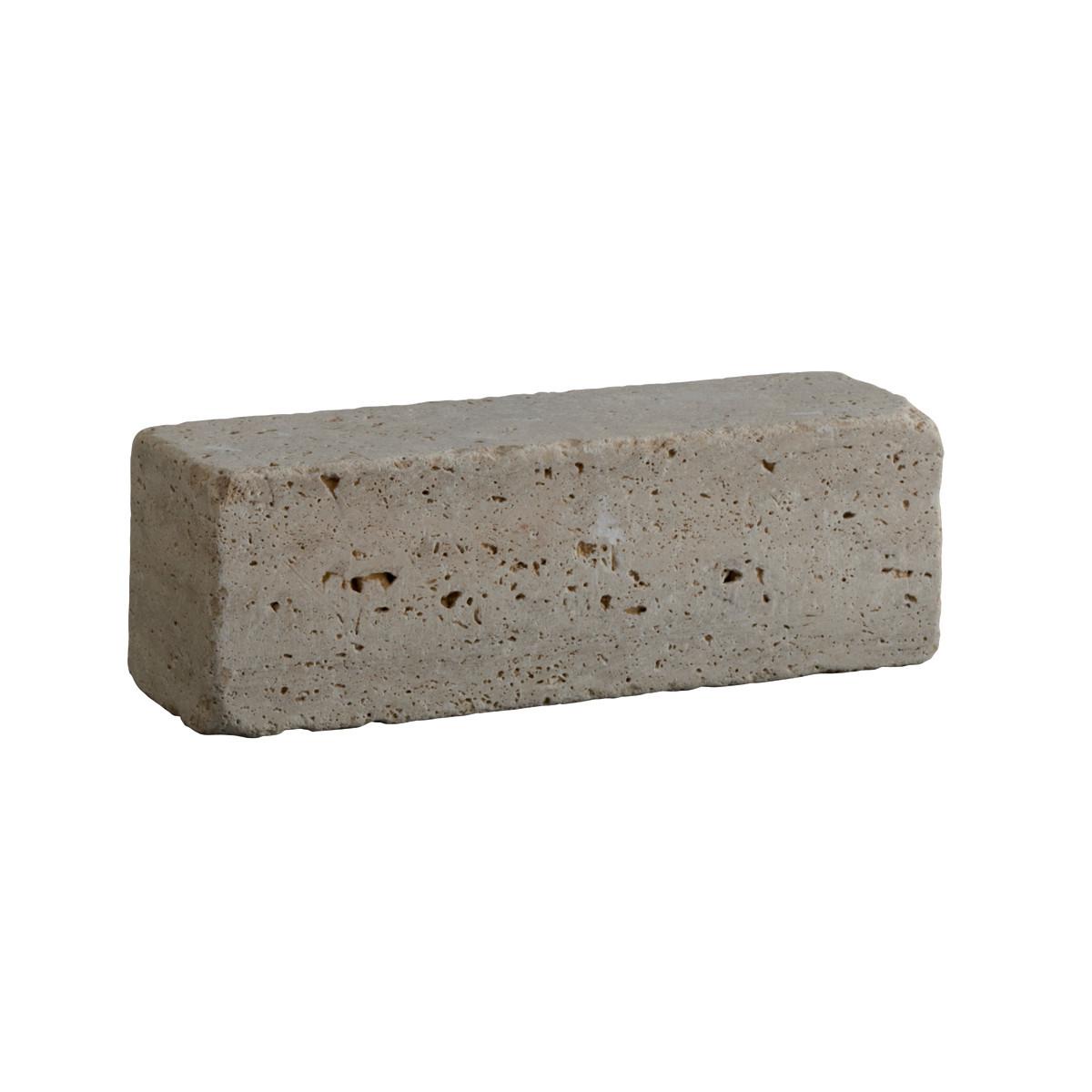 Blocco blocchetto travertino in pietra prezzi e offerte for Cordoli in cemento leroy merlin