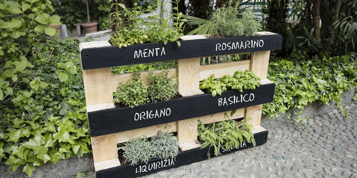 Costruire un orto verticale con i pallet for Cascata giardino fai da te