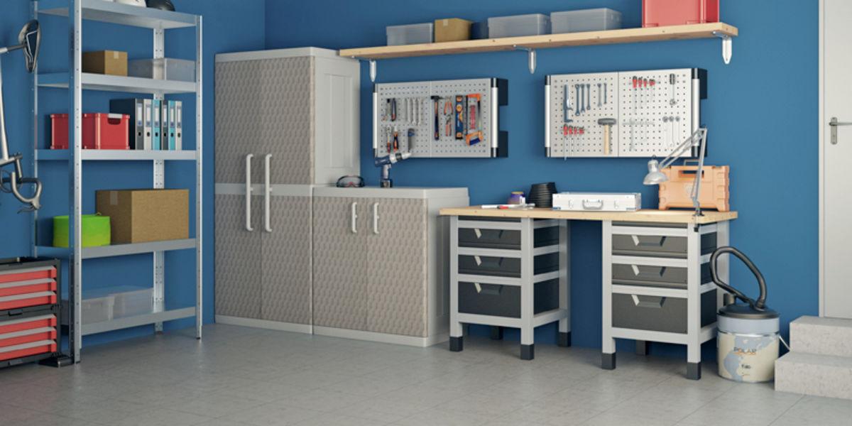 Idee Per Arredare Garage.Organizzare Il Garage Soluzioni Box Leroy Merlin