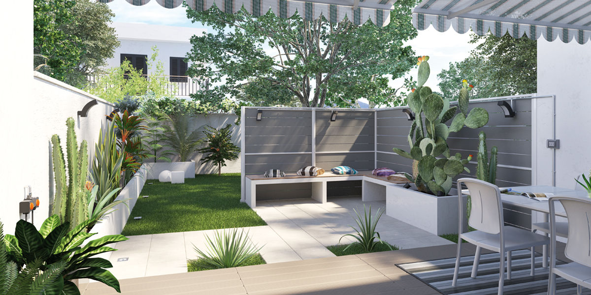 Idee per un piccolo giardino vv79 regardsdefemmes for Accessori per terrazzi e giardini