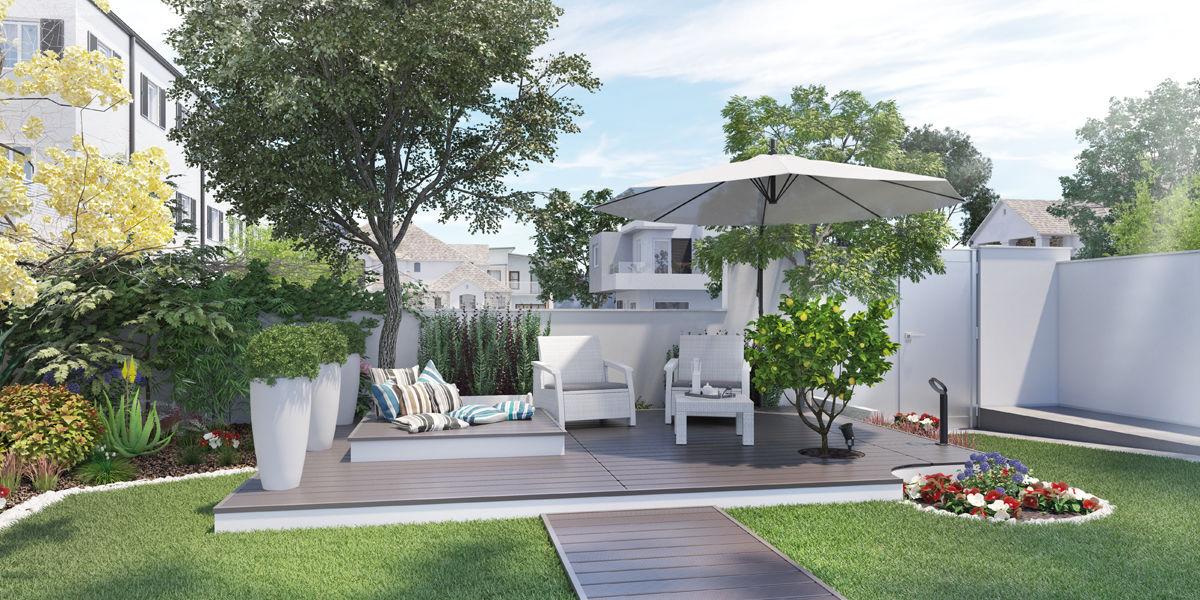 Fabulous idee per allestire un piccolo giardino rilassante for Cordoli in cemento leroy merlin