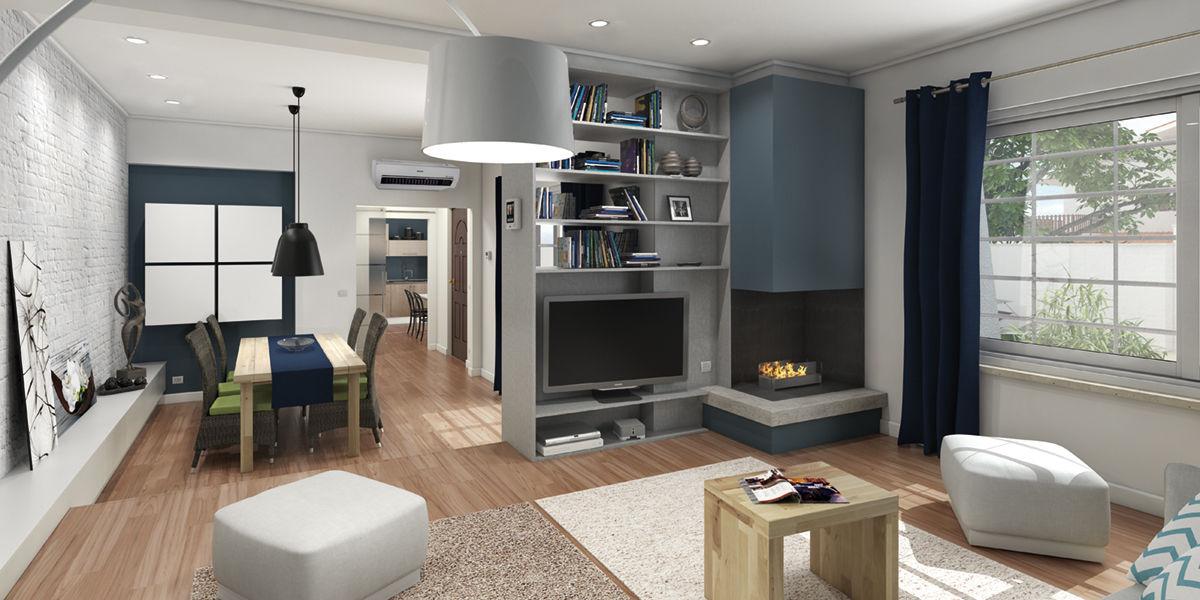 Top un living per una casa efficiente su piani with idee for Piani di cabina 32x32