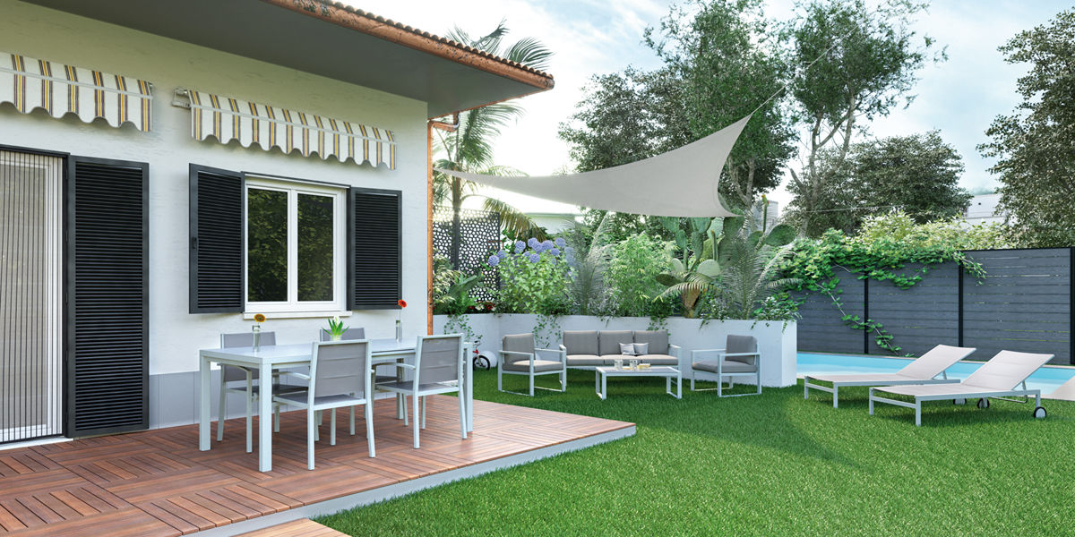 Finest idee giardino come valorizzare gli spazi with - Giardini sui terrazzi ...