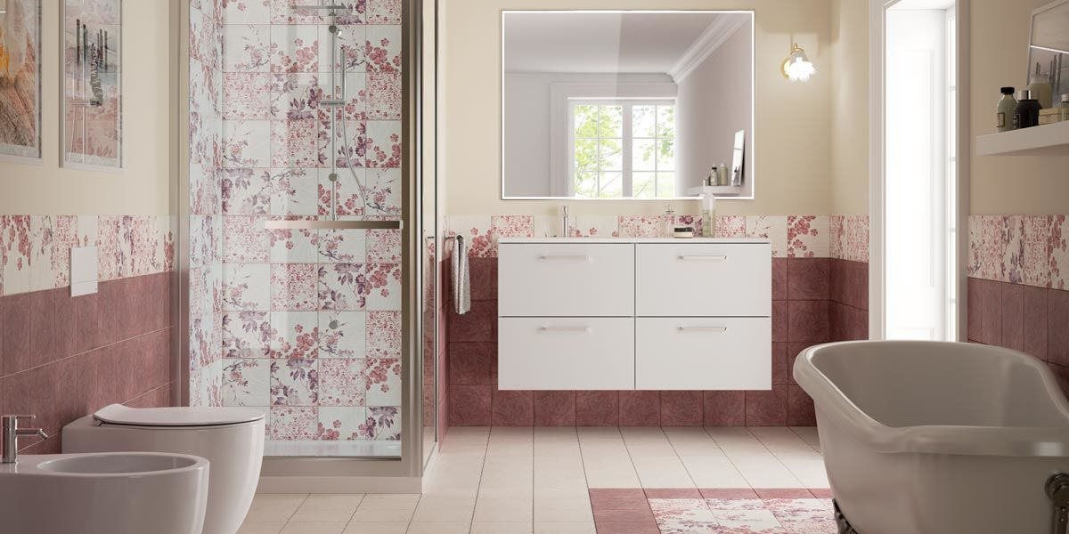 Cheap consigli per arredare un bagno rosa romantico with for Idee per arredare un trullo