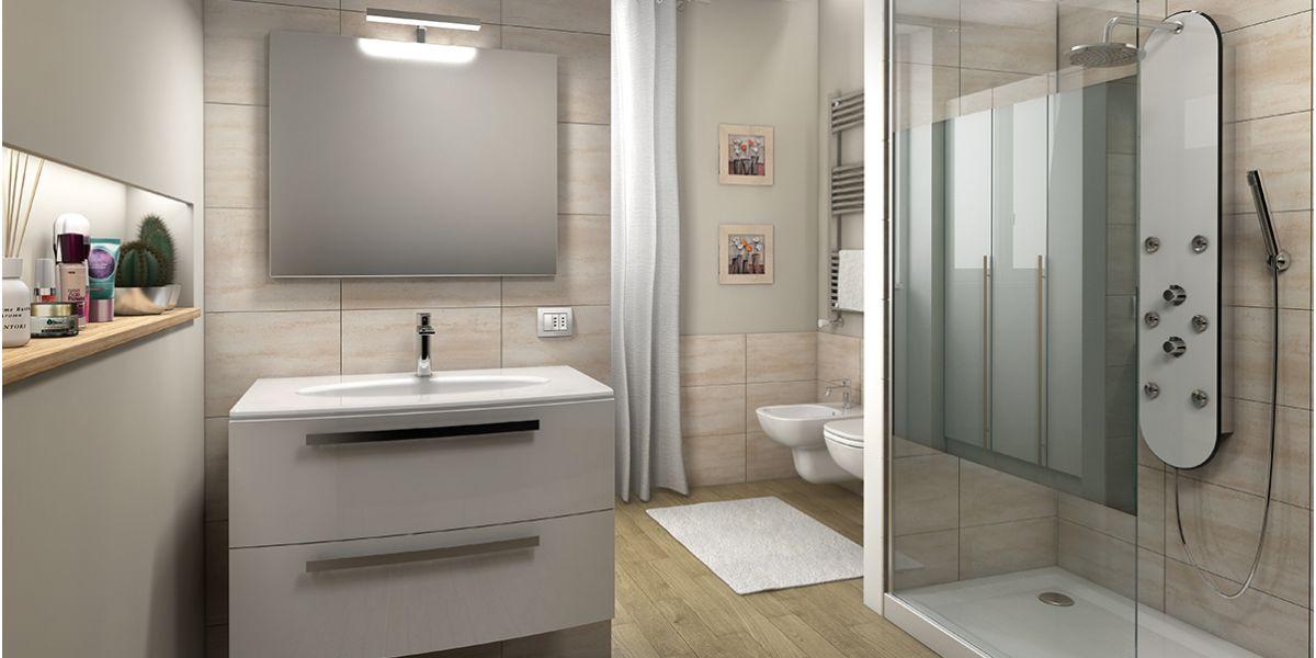 Affordable organizzare un bagno moderno per dividere spazi - Armadietti per bagno ...