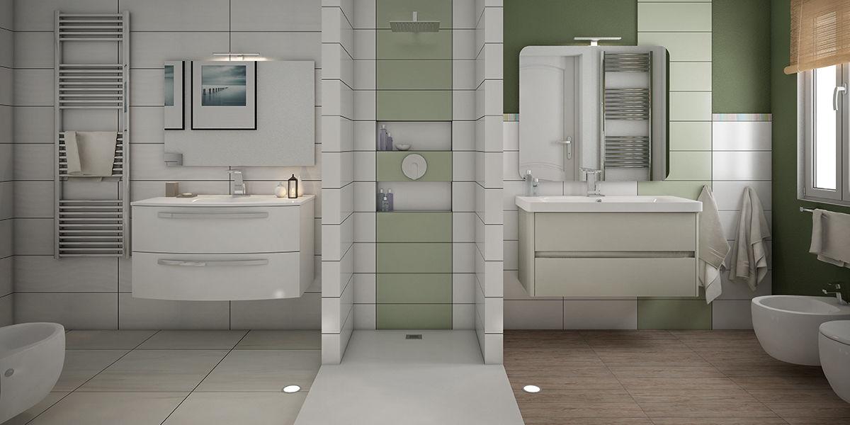 Rifare il bagno: dividere lo spazio in due bagni fai da te   Leroy ...