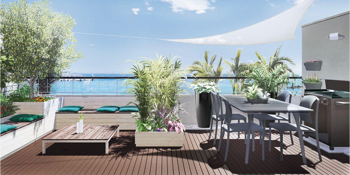 Simple come arredare il terrazzo grande della sala with for Mobili da terrazzo in legno