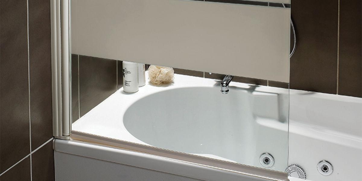 Paraspruzzi vasca da bagno parete per vasca kamelie - Leroy merlin parete vasca bagno ...