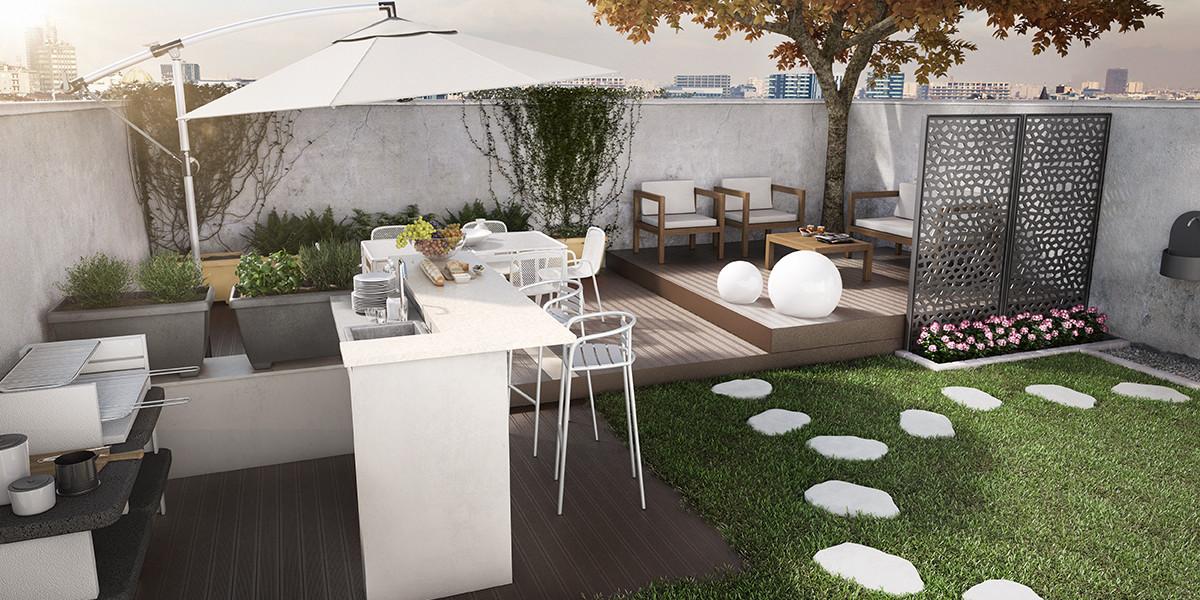 Come organizzare un piccolo giardino awesome un giardino for Arredo per terrazzo esterno