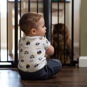 Cancello per bambini per cucina e altre stanze della casa