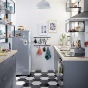 Cucina in parallelo o a galleria