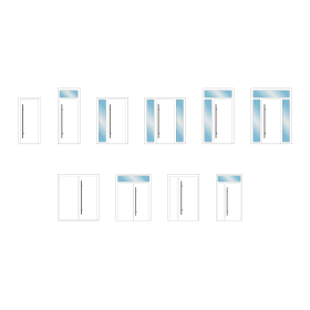 Configurazioni di apertura e inserti in vetro