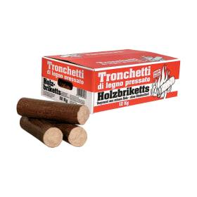 Tronchetti di legno pressato