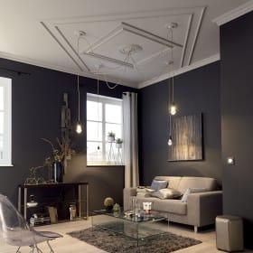 Rosoni per lampadari, cornici per soffitti e pareti, modanature: cosa sono?