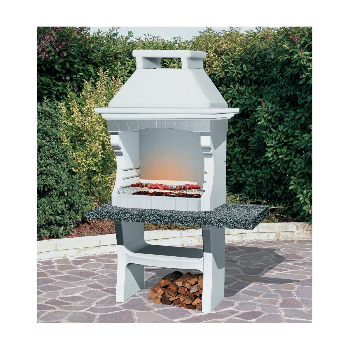 Barbecue esterno pietra e marmo muratura legna  Prezzo e Offerte Sottocosto